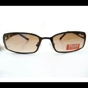 Women/Men Rectangular Sunglasses Bronze Frame Mudd